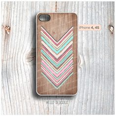 iPhone 4 and iPhone 4S case Geometric Color Palette, Chevron iPhone Cover, Wood Texture iPhone case I11 via Etsy