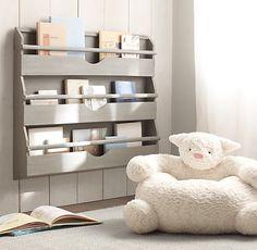 Weathered Wall Bookrack | Storage Organization | Restoration Hardware Baby Child...diy with pallet