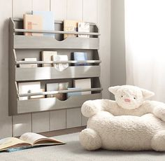 Weathered Wall Bookrack | Storage & Organization | Restoration Hardware Baby & Child