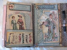 annes papercreations: Saved Graphic 45 A Ladies Diary year book journal / mini album - tutorial