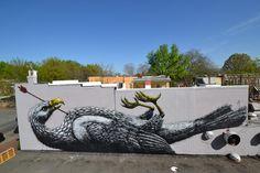 ROA in Stockholm, London, Vienna, Richmond, Katowice - unurth | street art