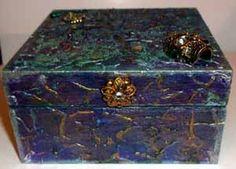 The final box Altered Art, Art Projects, Mixed Media, Decorative Boxes, Decorative Storage Boxes, Mixed Media Art, Art Designs