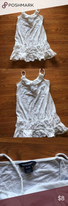 Ralph Lauren Girls XL (16) white dress or coverup EUC white dress, great as a tunic top or dress!! Ralph Lauren Dresses