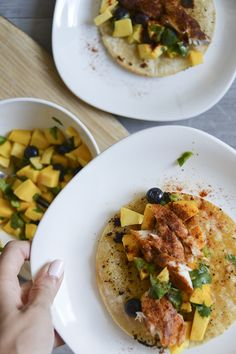 Salmon With Blueberry Mango Salsa Recipe — Dishmaps