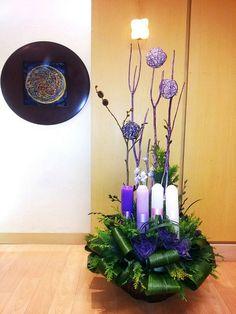 Daum 블로그 Holy Week, Christmas Candles, Holi, Flower Arrangements, Glass Vase, Xmas, Flowers, Plants, Projects