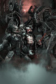Aliens Vs Predators by Aste17