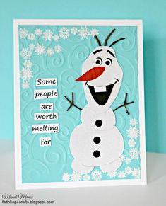 Olaf by mandianna - Cards and Paper Crafts at Splitcoaststampers