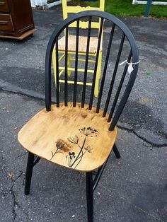 Lila's Pockets Black chair is part of Wooden kitchen chairs -
