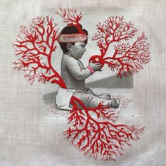 Karin van der Linden embroidery