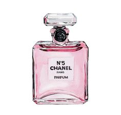 Chanel No 5 Perfume Light Pink Watercolor by LadyGatsbyLuxePaper