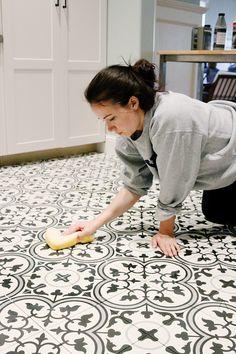 Paint & Tile For our Basement Kitchen