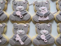 Tatty teddy bear cookies