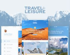 다음 @Behance 프로젝트 확인: \u201cTravel + Leisure - Concept Re-Design\u201d https://www.behance.net/gallery/47612471/Travel-Leisure-Concept-Re-Design