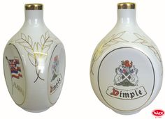 Dimple Whisky Ceramic Decanters.