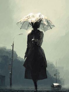 Rain in The City by alexandreev.deviantart.com on @DeviantArt