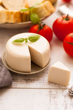 These vegan cheese recipes are the best. Make an easy, melty mozzarella, cashew, almond, or nut-free cheese at home today. Dairy-free and delicious! Recipes With Mozzarella Cheese, Non Dairy Cheese, Vegan Cheese Recipes, Vegan Cheese Sauce, Milk Recipes, Vegan Foods, Vegan Snacks, Vegan Dishes, Dairy Free Recipes