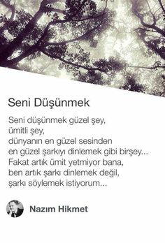 seni düşünmek güzel şey, ümitli şey, Poem Quotes, Daily Quotes, Poems, Funny Quotes, Inspirational Books, Note To Self, True Words, Cool Words, Quotations