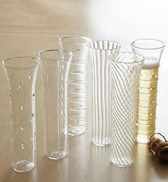 With six distinct designs and a tall, modern shape, the Horchow Montpellier Flutes ($60 for six) are a perfect pick for entertaining.