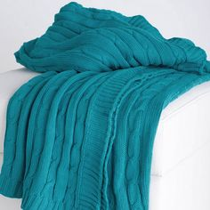 Ella Cable Knit Throw $44.95