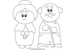 Seniors Week Coloring Page - Preschool Activity Activities - Madamt . Senior Games, Senior Activities, Coloring Sheets, Coloring Pages, Grandmother's Day, Senior Week, Sunday School Activities, Spring Activities, Grands Parents