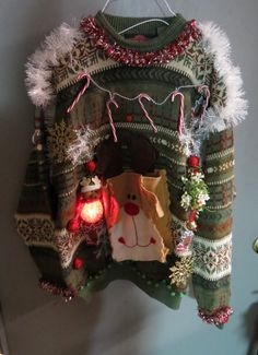 """Pleeease somebody have an ugly Christmas sweater party so that I can wear this!Needing ideas for a FUN Ugly Christmas Sweater Party check out """"The How to Party In An Ugly Christmas Sweater"""" at Amazon.com"""