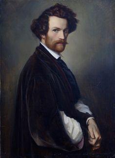 Alexander Heubel, Self-portrait, 1846