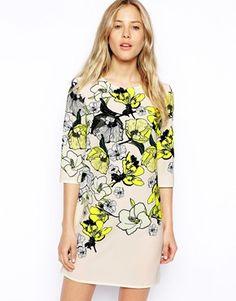 Image 1 ofASOS Beautiful Floral T-shirt Dress