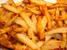 Zesty Oven Baked Fries: Success!  These were pretty good.  A great alternative to fried fries.