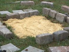 Square Fire Pit Base Fire Pit Base, Square Fire Pit, Stepping Stones, Outdoor Decor, Stair Risers