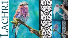 Bird in colored pencil and airbrushing demonstration w/ Lachri