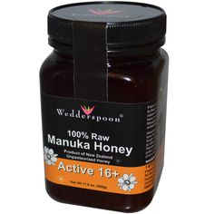 Wedderspoon Organic, Inc., 100% Raw Manuka Honey, Active 16+ (This is great internally and externally. If you have a breakout, spot treat or use it on your entire face as a mask)