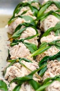 Kalua Turkey lau lau made by Waipa's chef for the Kalo Festival. Daniel Lane photo.