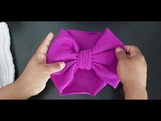 No Flap bow (Head wrap) Making Hair Bows, Diy Hair Bows, Diy Bow, Diy Baby Headbands, Diy Headband, How To Make Toddler Headbands, Baby Headband Tutorial, Flower Headbands, Headband Pattern
