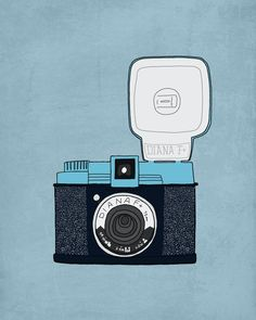 8 x 10 print - retro bulb camera. $23.00, via Etsy.