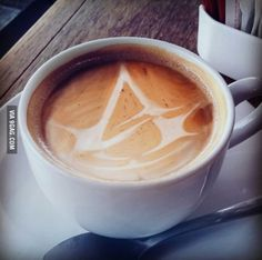 An assassin's creed coffee! The Assassin, Assassins Creed Art, All Assassin's Creed, Assasing Creed, Connor Kenway, Bioshock, Skyrim, Latte, Game Of Life