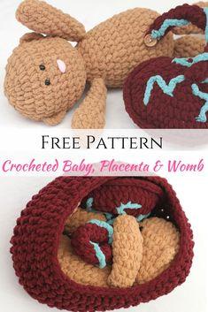 Free Crochet Pattern for Crocheted Baby, Placenta & Womb using bulky yarn. | free crochet pattern | Free crochet pattern | Crochet baby | crochet baby | Crochet placenta | crochet placenta | crochet placenta pattern | birth tool | birth education | Birth education | crochet baby doll | Crochet baby doll | midwife | doula | homebirth | home birth |