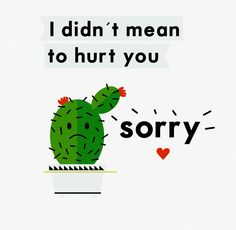 Everyone makes mistakes, but not everyone always says sorry. Be the change today :)    http://www.eventure.com  #cactus #imsorry #bekind #apologycard #cards #design #eventure #friendship #goodfriends