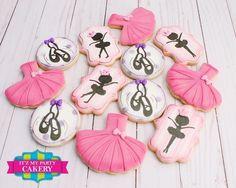 Dance Recital Cookies (1 Dozen) Ballerina Cookies, Ballet Cookies Ballerina Cookies, Ballerina Party, Girl Birthday, Birthday Parties, Cookie Quotes, Ballet Cakes, Diy Party Supplies, I Party, Party Ideas