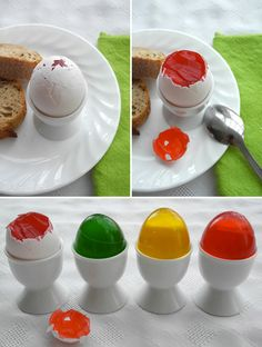 Easter Fools Eggs Filled with Jello