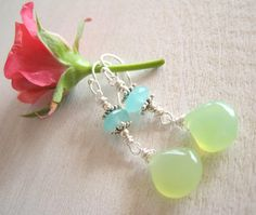 NEW+christmasinjuly+Chalcedony+Briolette+by+sunrisetreasures