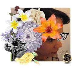 Autoportrait flowers 2, created by sara-ki on Polyvore
