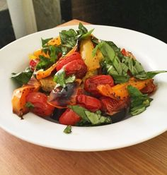 Vegan Italian-Style Baked Polenta with Roasted Veggies | this dish channels the flavors of southern Italy and makes a perfect spring-summer meal.