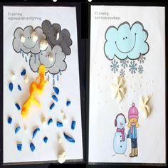 Playdough Activities, Printable Activities For Kids, Toddler Activities, Free Printables, Weather Seasons, Spring Activities, Art For Kids, Homeschool, Teaching