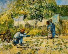 First Steps (after Millet) - Vincent van Gogh - 1890