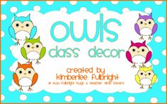 Teacher Time Savers: Owl Theme Decor