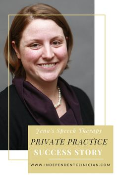 How the founder of The Independent Clinician started her speech therapy private practice: https://www.independentclinician.com/how-i-started.html
