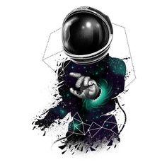Astronaut warping in space. Galaxy Wallpaper, Cool Wallpaper, Wallpaper Backgrounds, Iphone Wallpapers, Astronaut Wallpaper, Astronaut Tattoo, Artistic Wallpaper, Space Illustration, Dope Art
