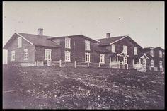 Ruukin tehtaan työväen asuntoja 1870