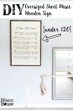 Enlarging sheet music