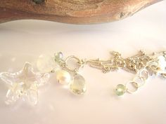 Crystal Swarovski Starfish Charm Necklace by SiennaGraceJewelry, $44.00